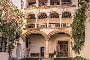 Historic hotel on your Spanish Road Bike Tour