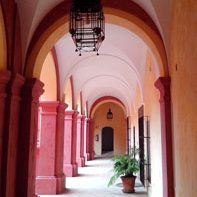 Monastery hotel on Bike Tour in Andalucia