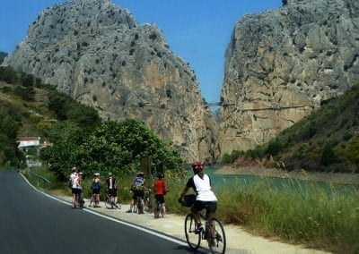 El Chorro Gorge on Cycling Country Bike Tour