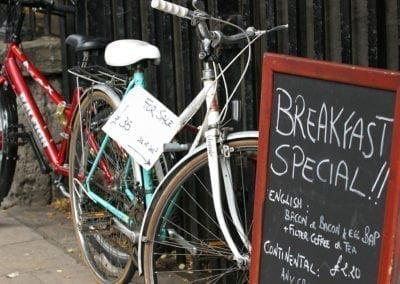English Breakfast special on a Bike Tour