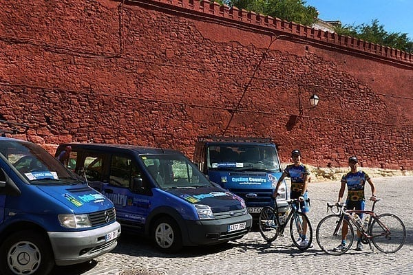 Team Cars  by Cycling Country Bike Tours