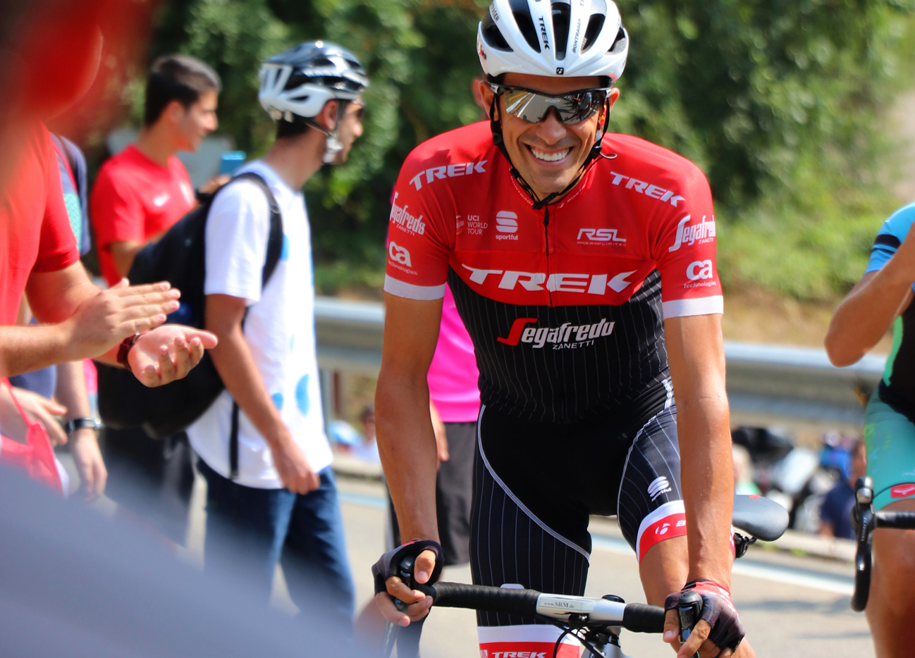 Alberto Contador at La Vuelta a España, his final pro race before retirement