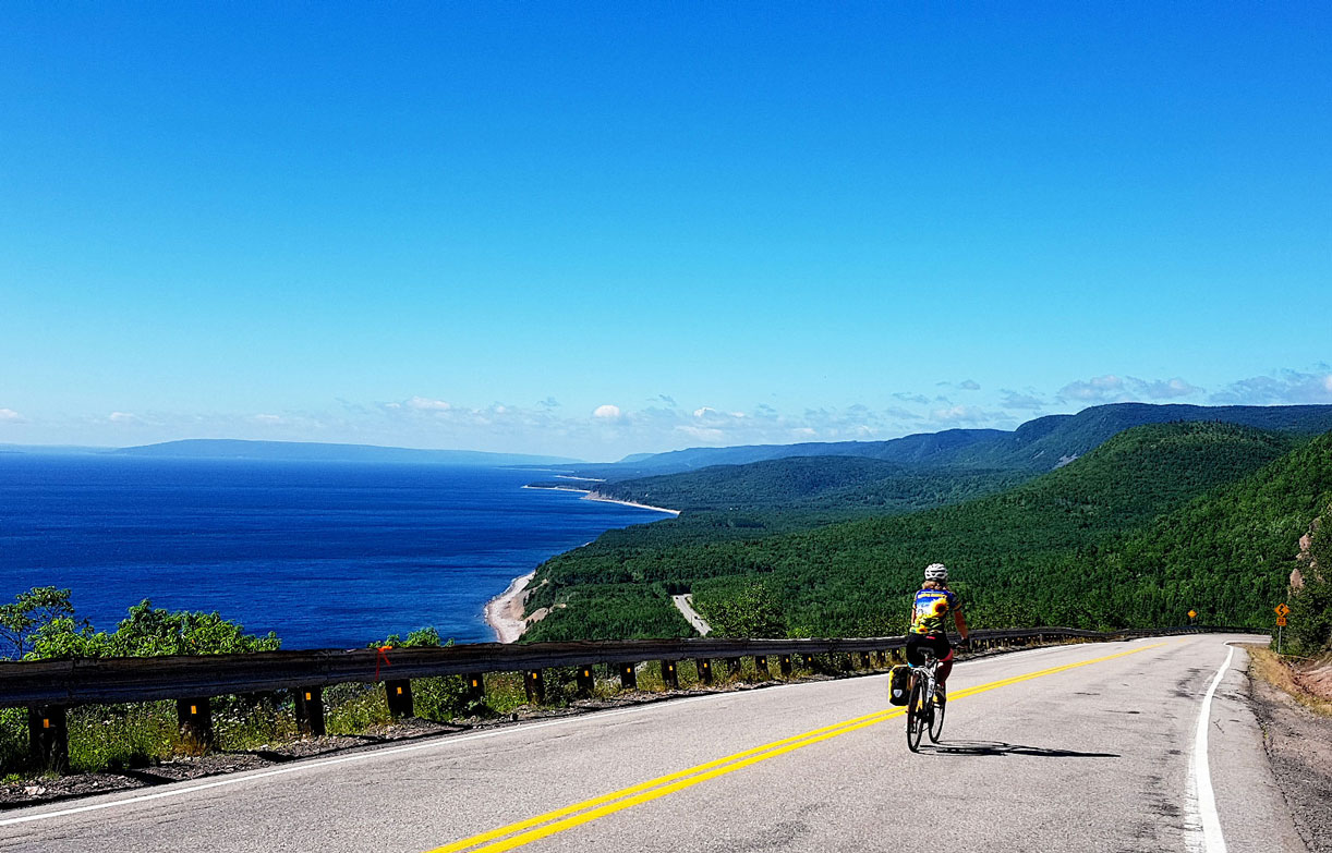 Cycling the Cabot Trail in Canada