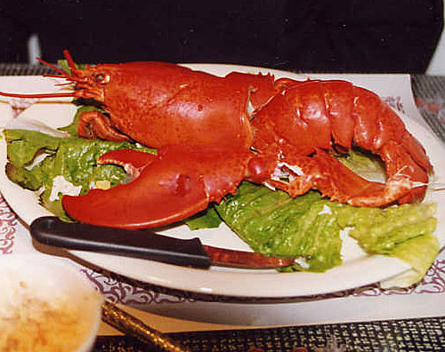 Canada's Cabot Trail Lobster Meal - Cheticamp