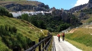 Cycling Zuheros, Andalucia, Spain