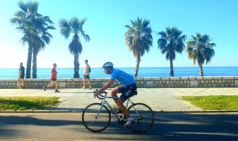 Cycling in Malaga on a bike tour Spain