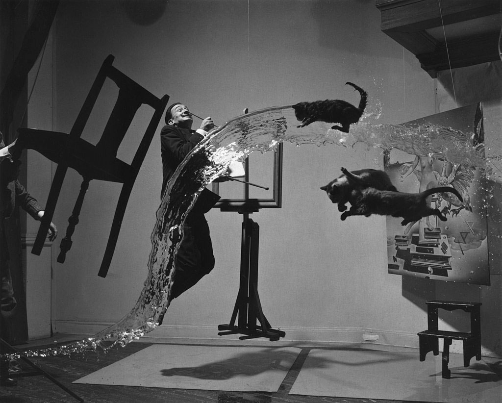 Dali, one of Spain's 4 most famous Artists - Philippe Halsman's Dali Atomicus (1948)