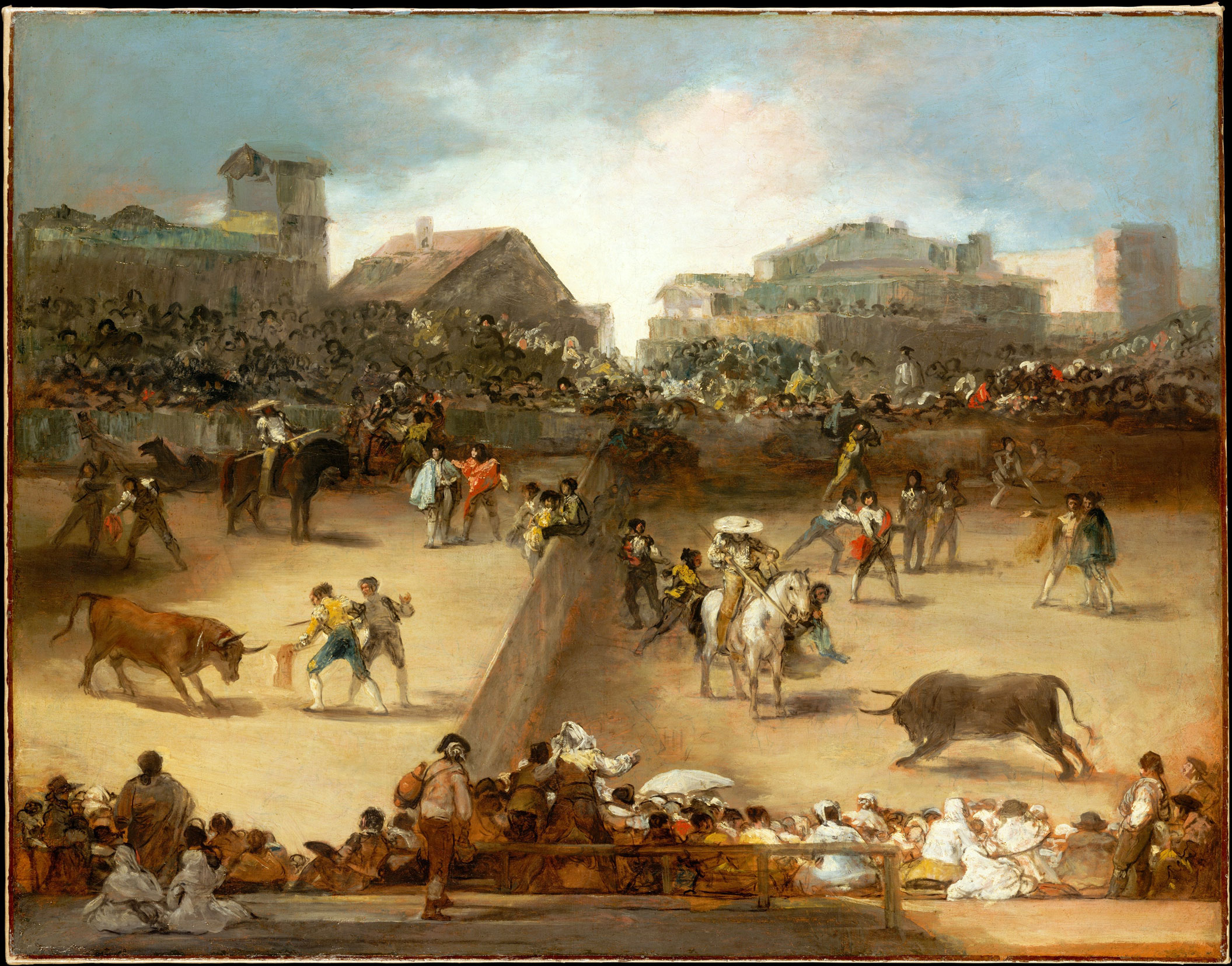 Spain's 4 most famous Artists - Goya, Painting of a Bullfight