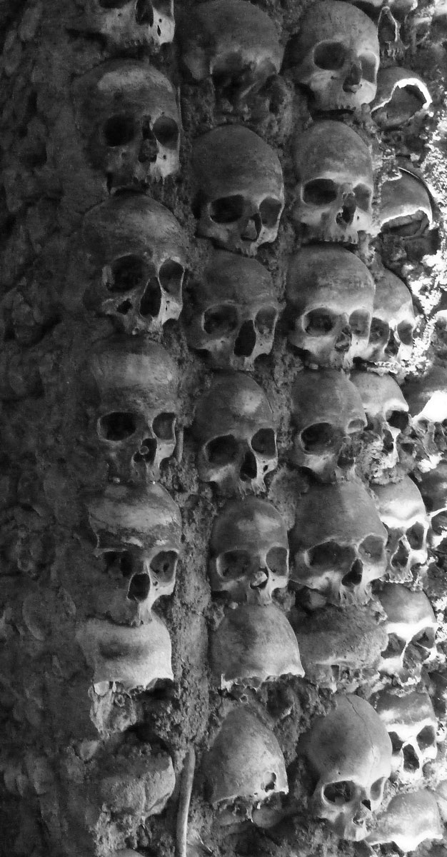 Skulls found in Ossuaries