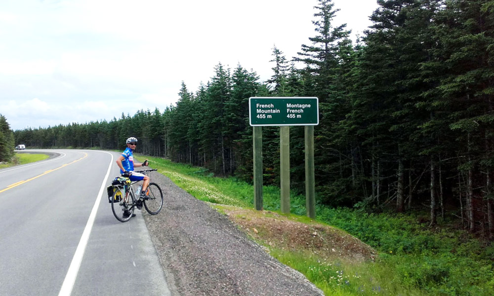 French Mountain, Cycling Canada's famous cabot trail