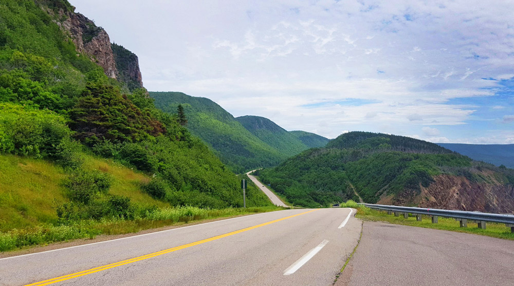 Cycling Canada's Famous Cabot Trail, view of the Road