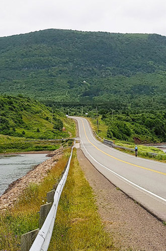 Biking The Cape Bretons famous cabot trail