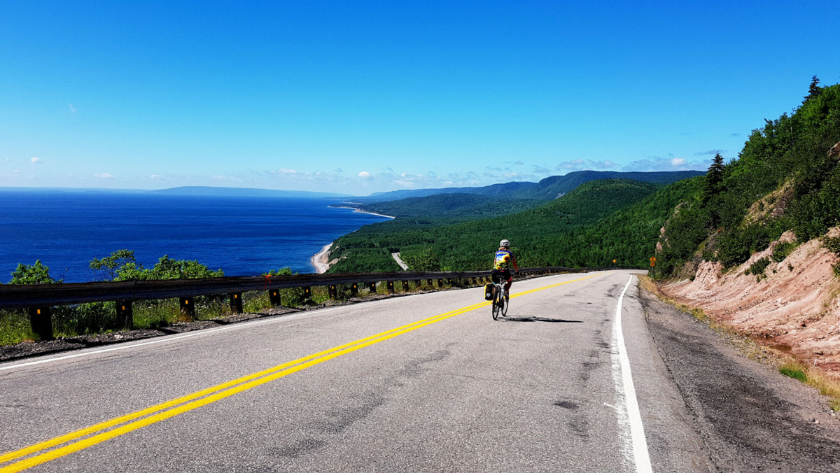 Cycling Canada's famous Cabot Trail in Maritime Canada
