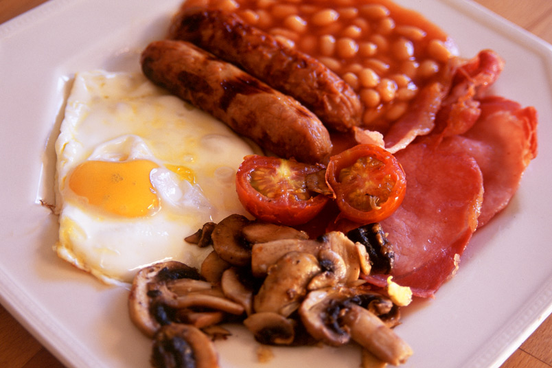 Indulge in the traditional full English Breakfast