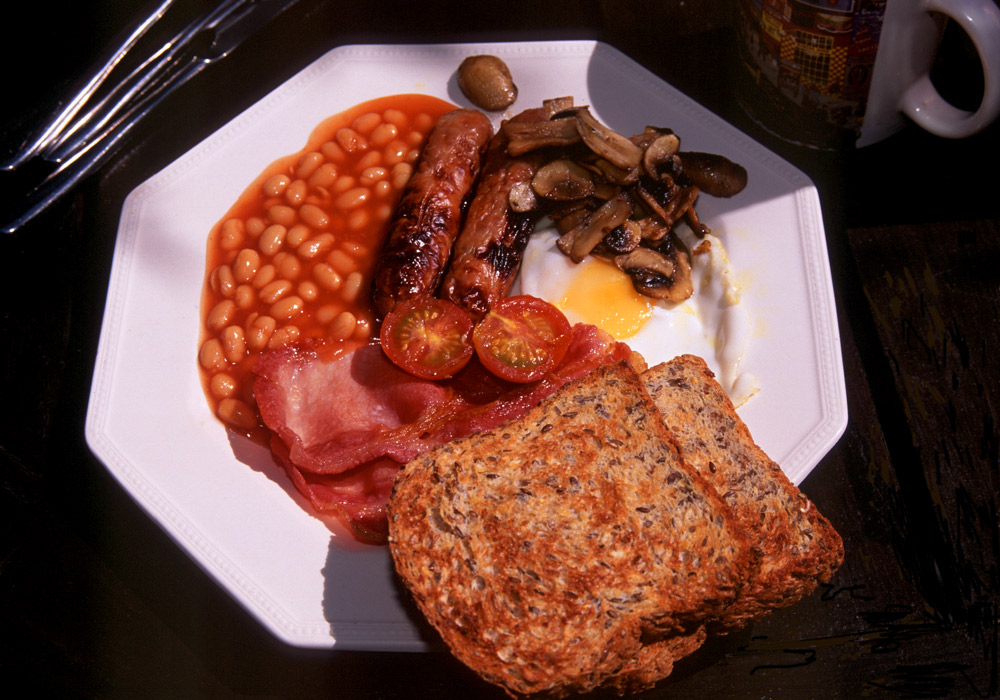 Ingredients of a Full English Breakfast