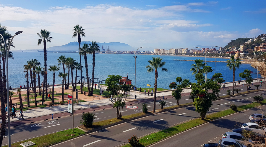 Costal Del Sol View of Malaga's cycle path