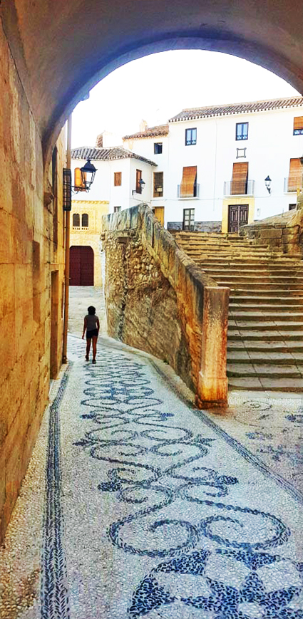 Traditional Paving in Alhama's Centre