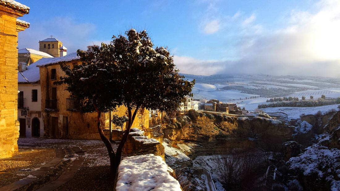 The Best of Andalucia's small towns, Alhama de Granada, snowstorm