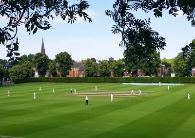Traditional Cricket played near London, England