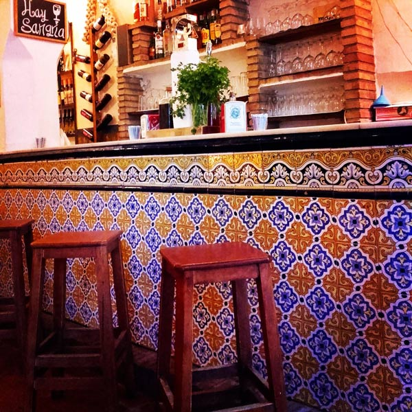 Spain's Town, traditional Bar in Alhama
