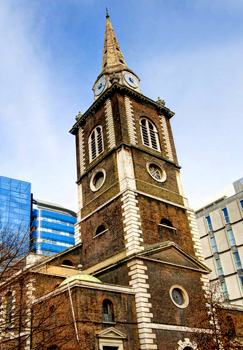 Exploring London England East End - St. Botolph