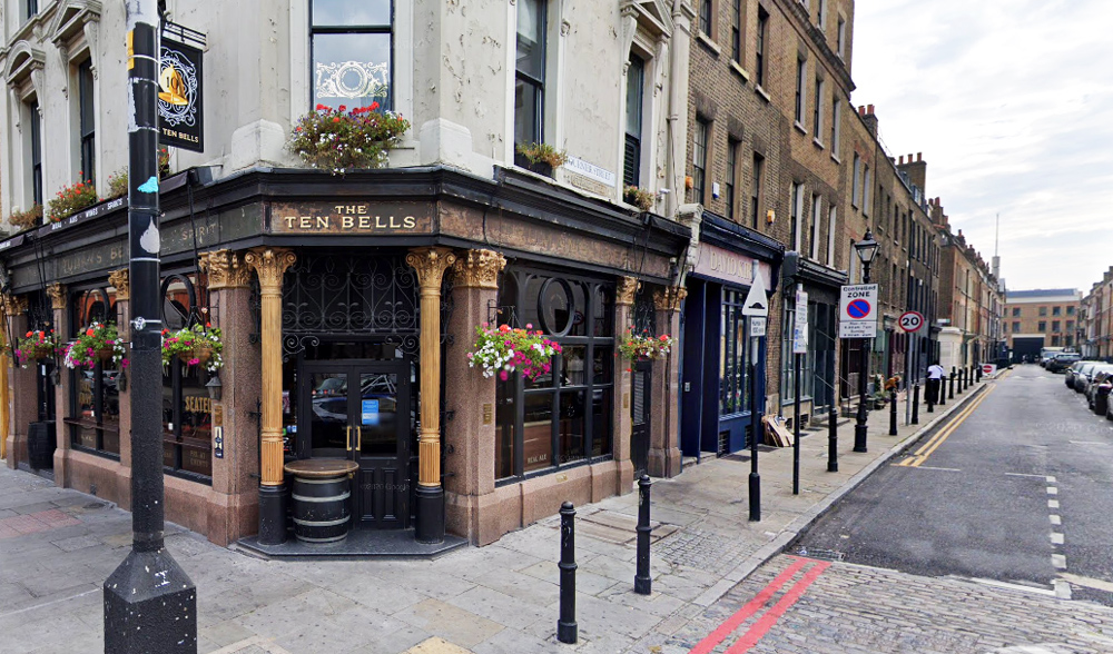 Walking Tour of London England's East End - Historic Pub, The Ten Bells